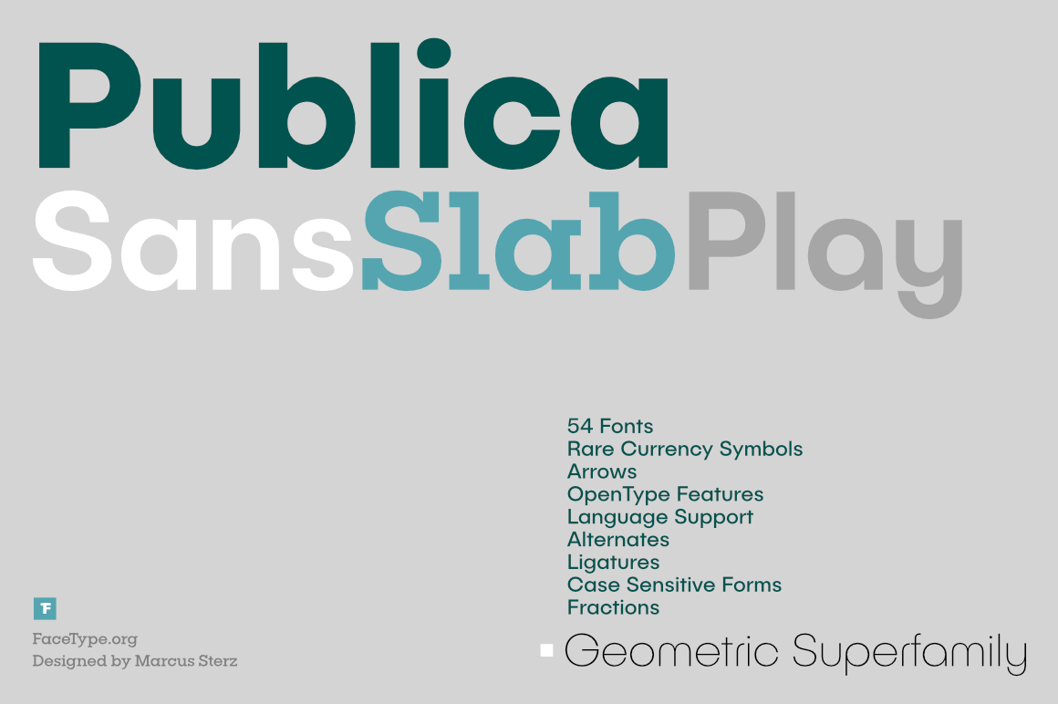 Geometric Publica Superfamily of 54 Fonts  – only $17!