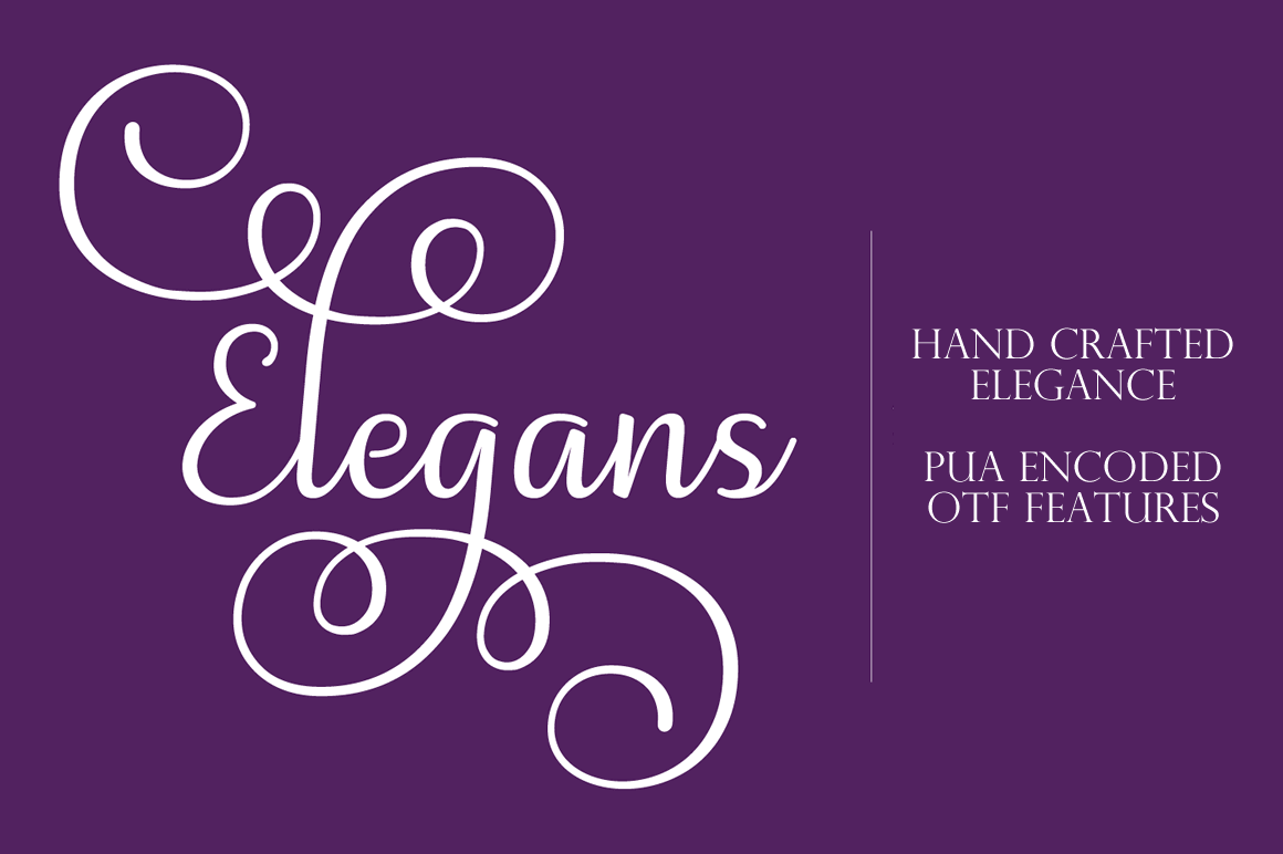 The Classically Beautiful Elegans Script – only $7!