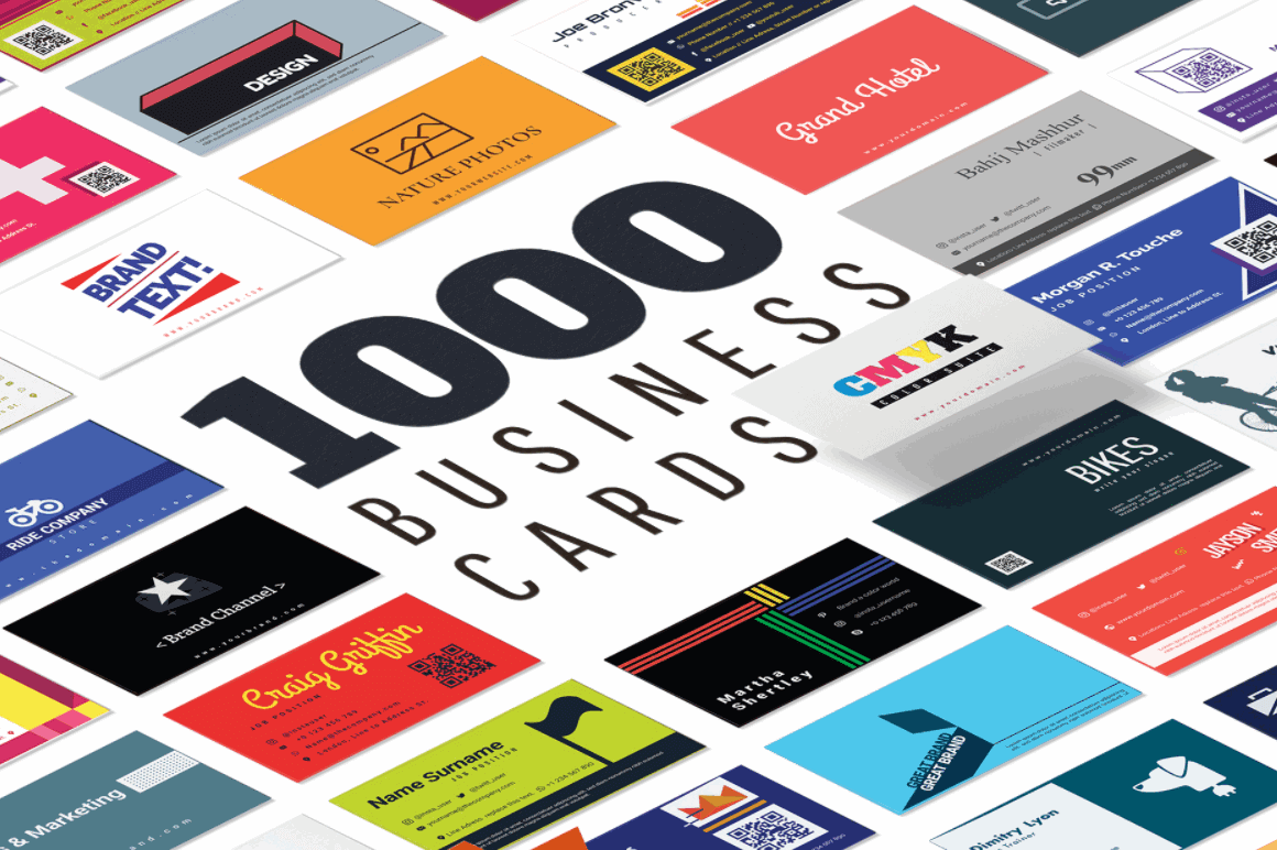 1000 Print-Ready Professional Business Card Templates – only $14!