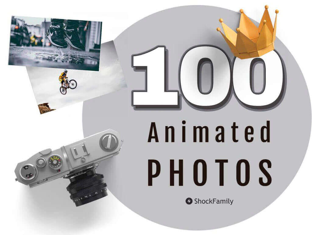 100 Fully Customizable Animated Photo & Videos – only $9!