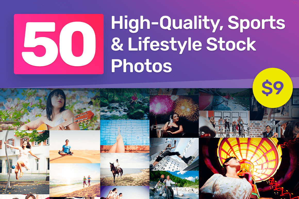 50 High-Quality, Sports & Lifestyle Stock Photos Ready for Commercial Use – only $9!