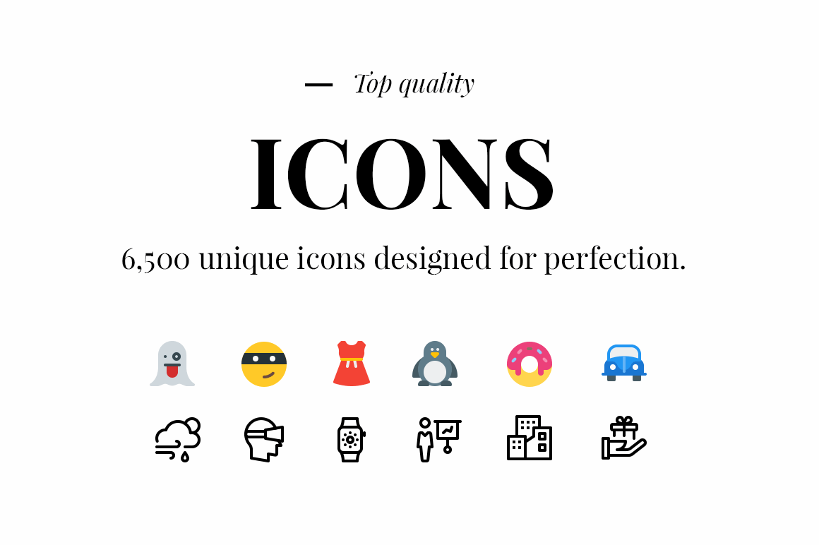 6,500 Unique Icons from Pixelicons – only $19!