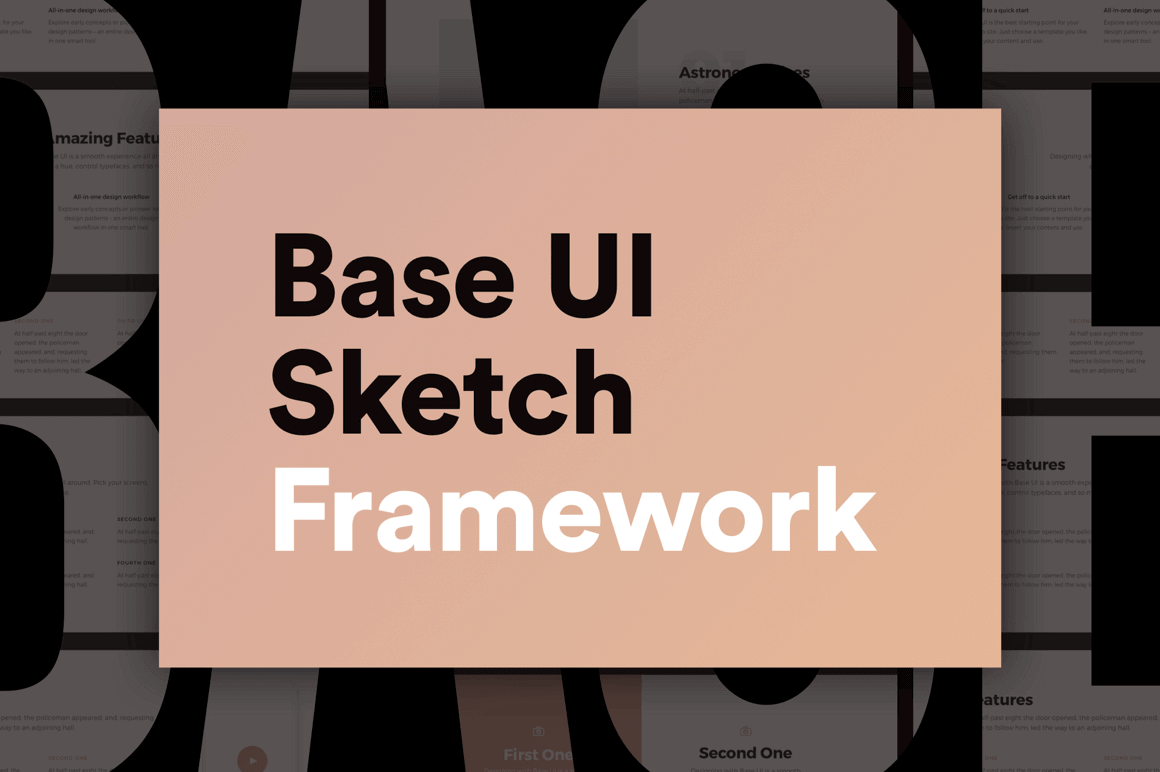 Easily Create Website Prototypes with Base UI Sketch Framework – only $24!