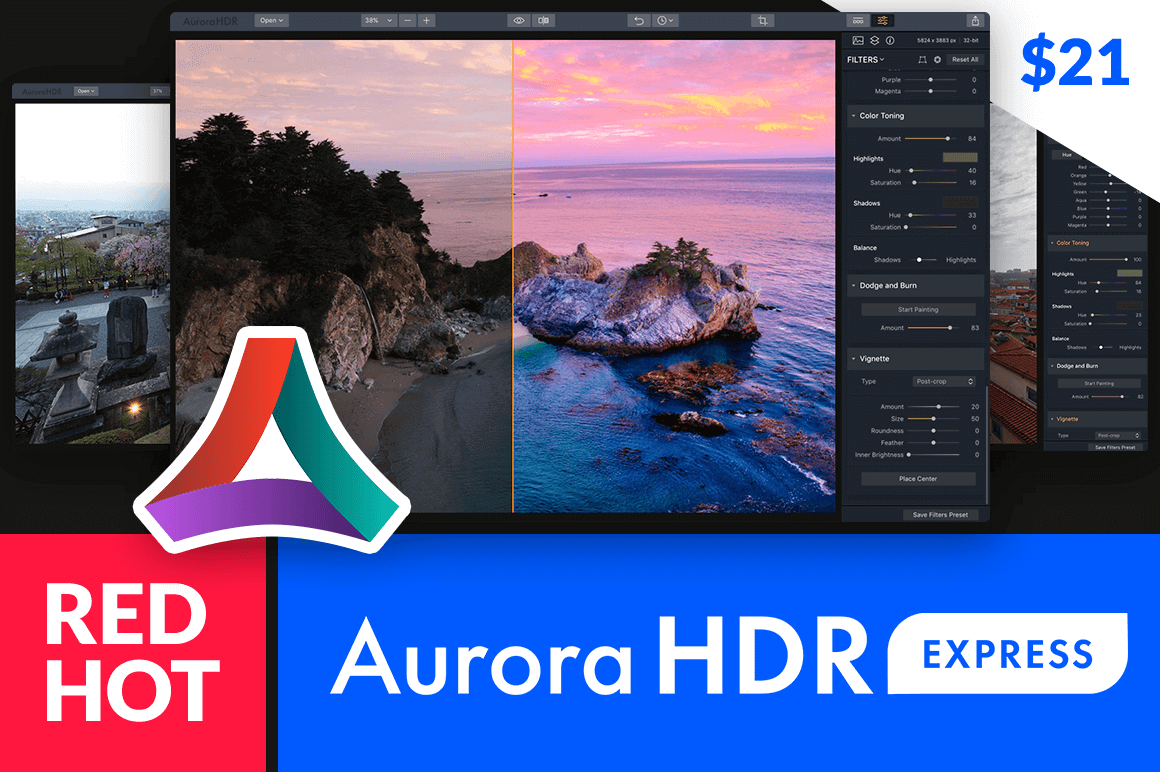 Get the Red Hot Aurora HDR Express for Half Price