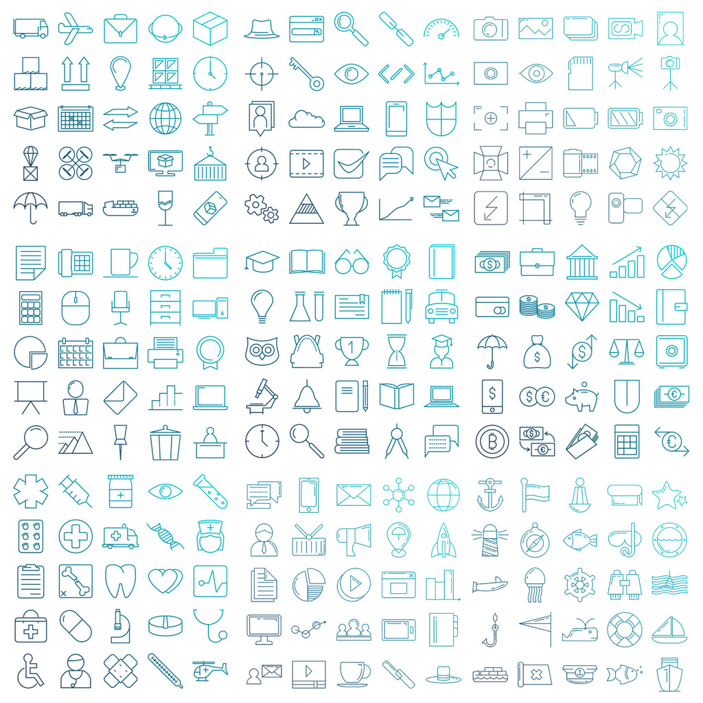900 Modern Icons Bundle To Bedazzle Your Designs