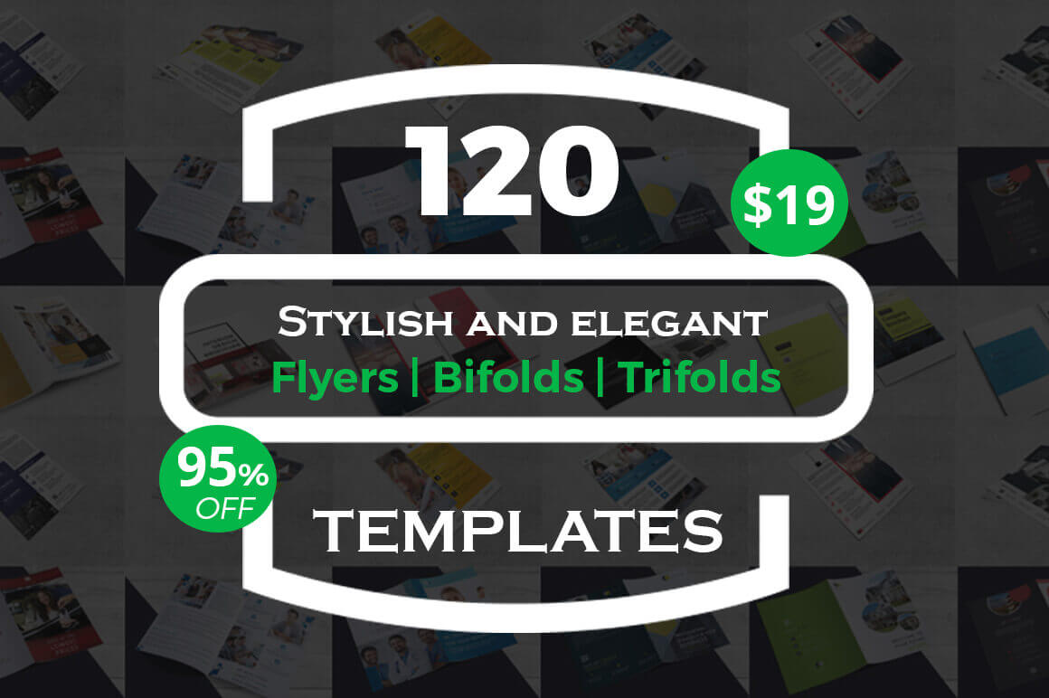120 Stylish and Elegant Flyer Templates – only $19!