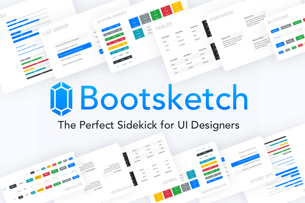 Bootsketch UI Design Library – only $14!