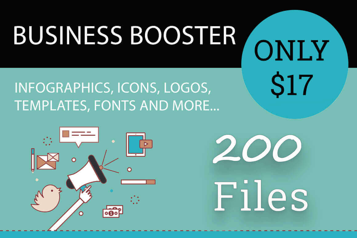 Business Booster Bundle of 200+ Professional Vectors - only $17!