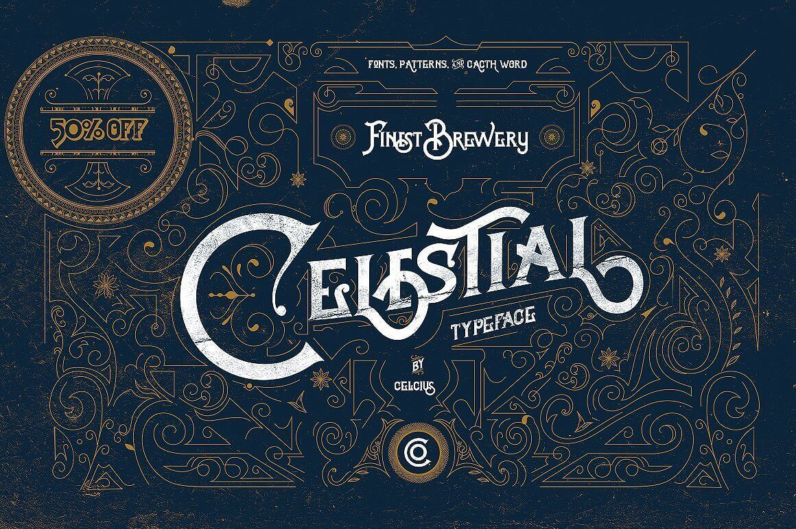 Celestial Typeface Offers Antique, Victorian Style – only $9!