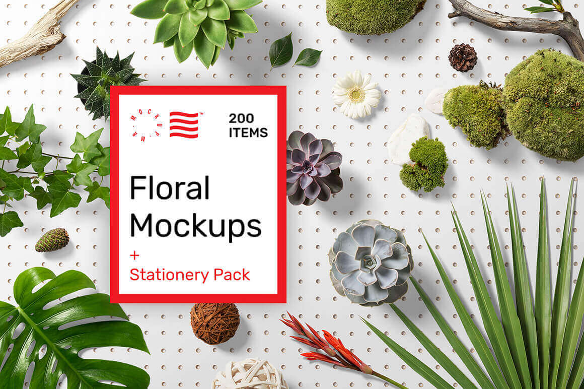 Create Gorgeous Scenes with Floral and Stationery Mockup Sets – only $19!