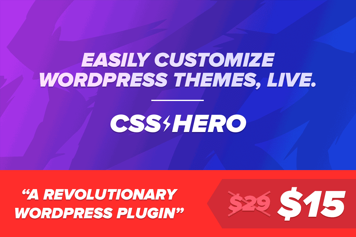 Easily Customize WordPress Themes with No Code Necessary – only $15!