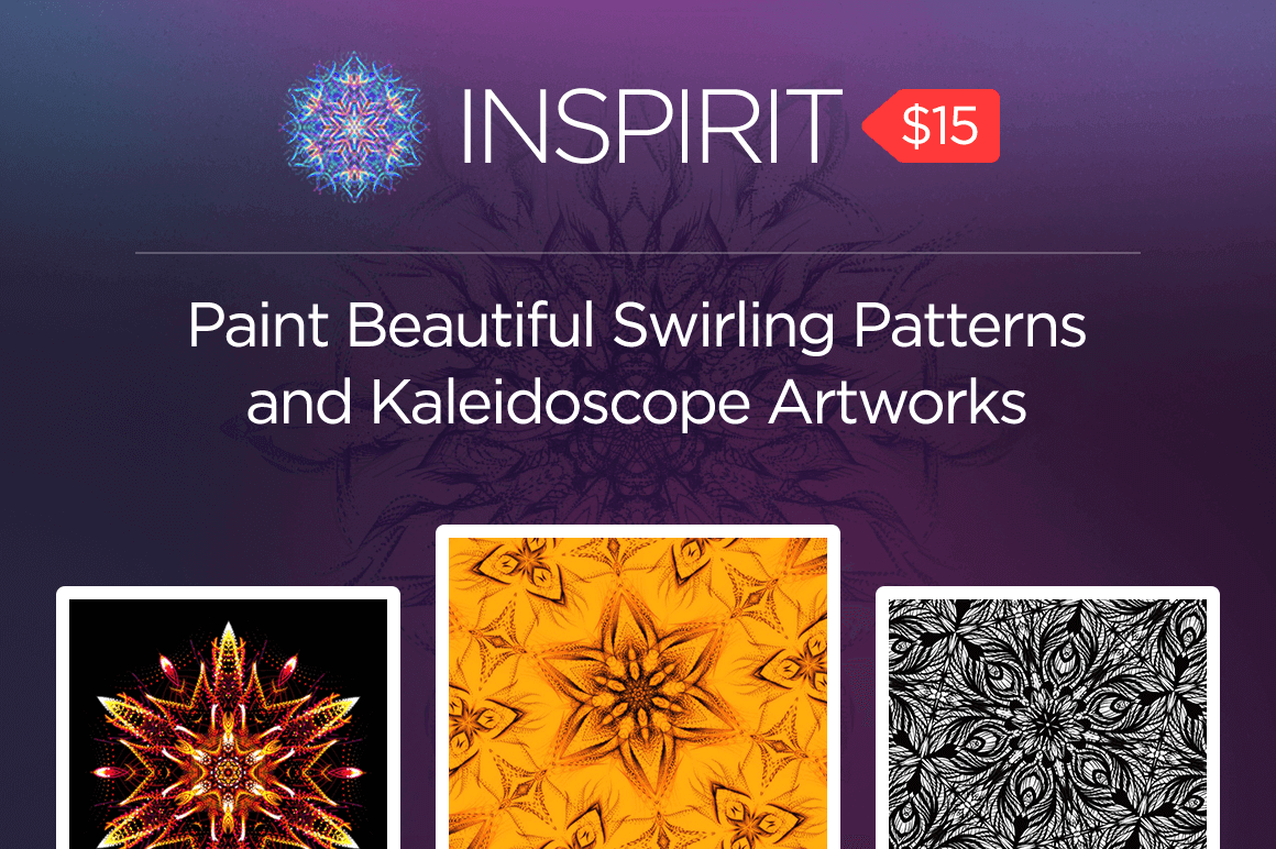 Inspirit: Paint Beautiful Swirling Patterns and Kaleidoscope Artworks – only $15!