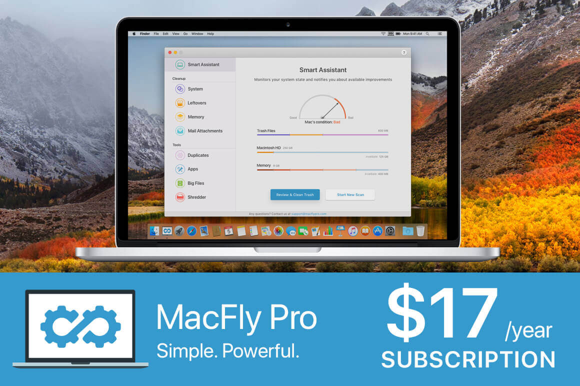 MacFly Pro Quickly and Easily Cleans Up Your Mac – only $17!