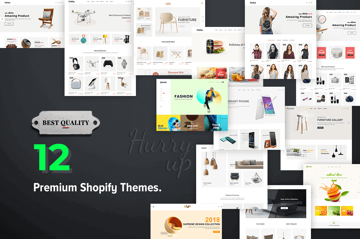 12 Premium Shopify Themes to Improve the Look of Your eCommerce Site – only $37