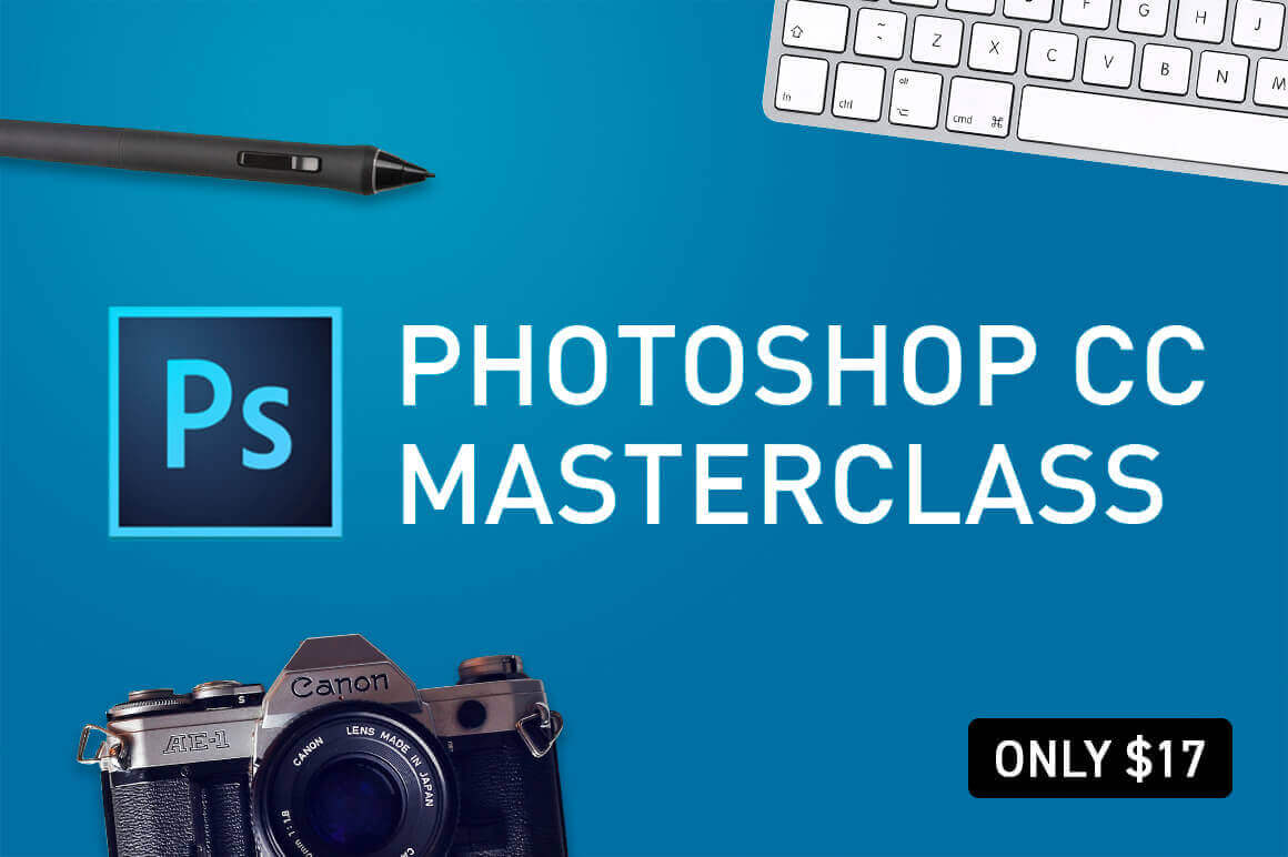 Learn everything you need to know with the Photoshop CC 2018 MasterClass – only $17