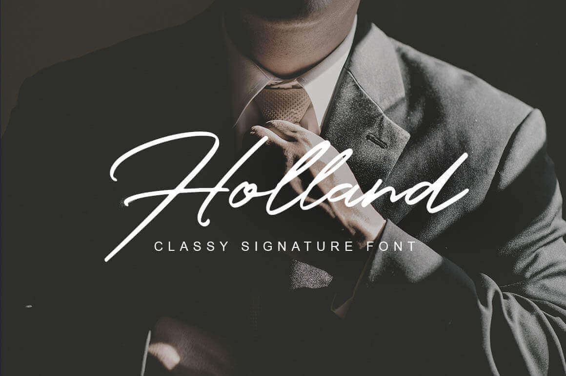 Strong, Classy Holland Font – only $9!