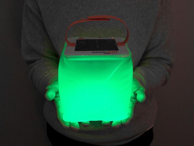 LuminAid PackLite Spectra Solar Inflatable & USB Lantern for $24