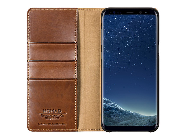 Leather Folio Wallet for Samsung Phones for $49