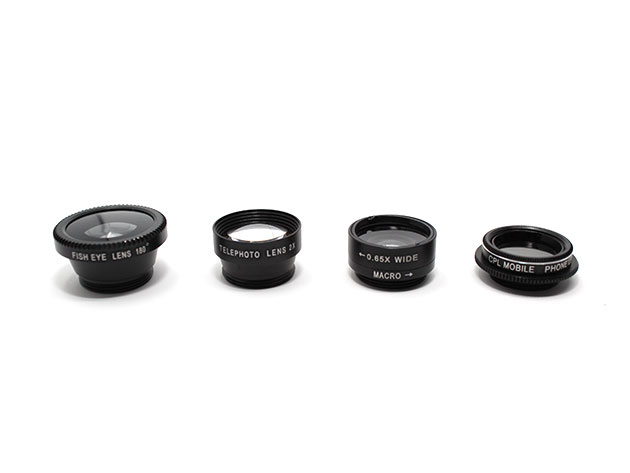 Clip & Snap Smartphone Camera Lenses: 5-Pack for $17