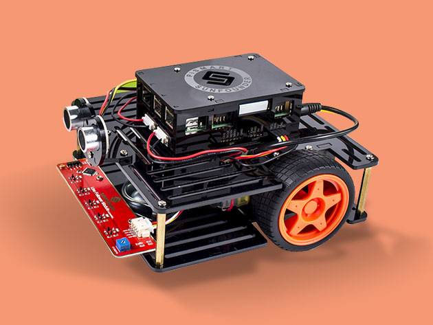 Raspberry Pi 3 + Speech Controlled Smart Robot Car Kit for $169