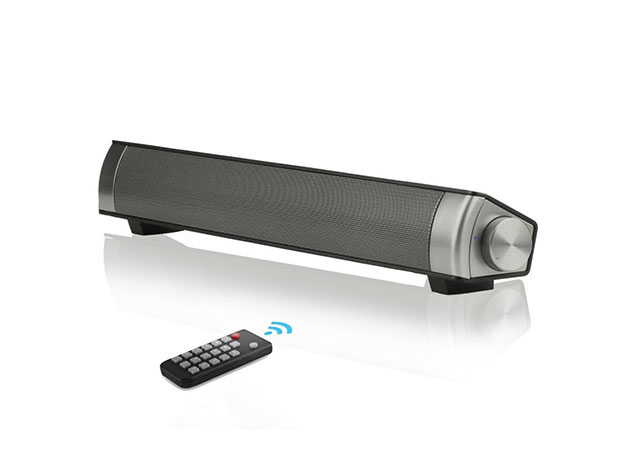 Bluetooth Hi-Fi SoundBar with Remote for $40