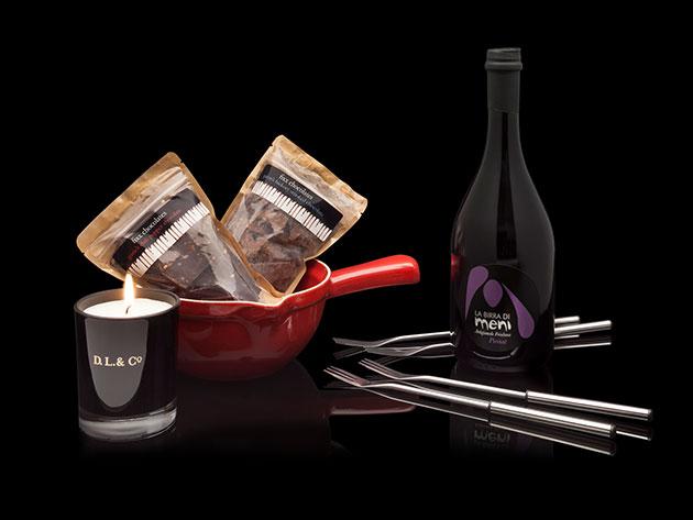 Robb Vices Chocolate Fondue Box Set for $128