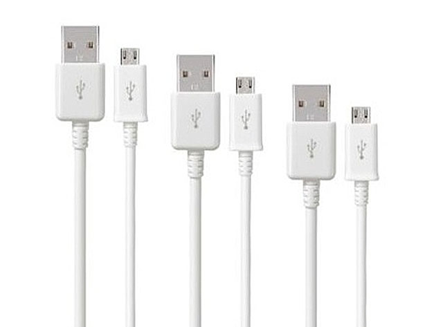 10-Ft Samsung-Certified MicroUSB Cable: 3-Pack + Fast Charging Adapter for $19
