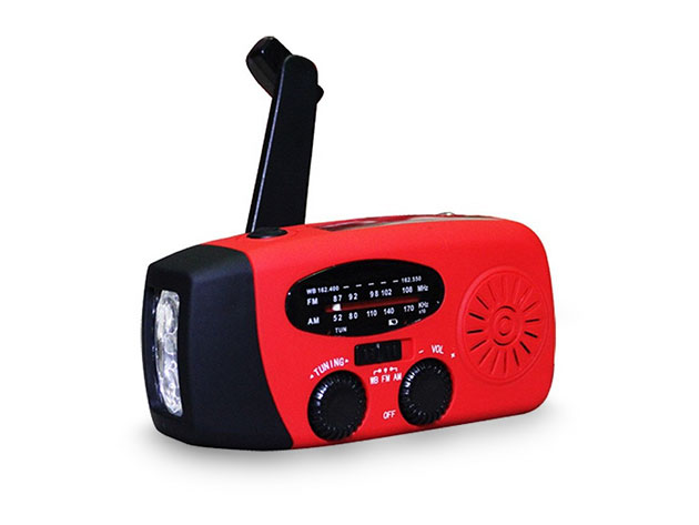 Emergency Multi-Function Radio & Flashlight for $28