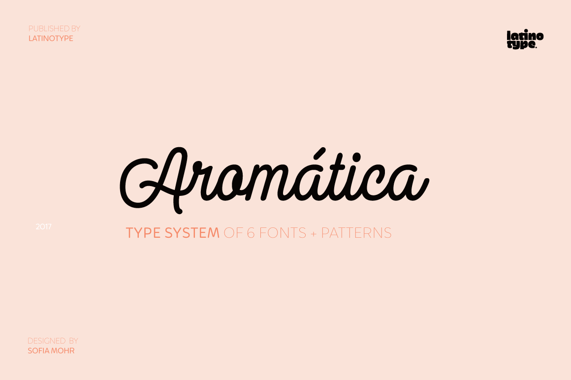 Aromática Font Family With 5 Weights and Patterns – only $19!