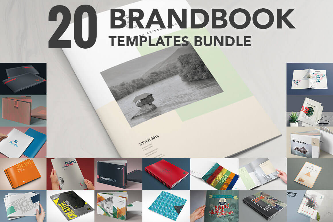 Bundle of 20 Brand Book Templates from ZippyPixels – only $17!