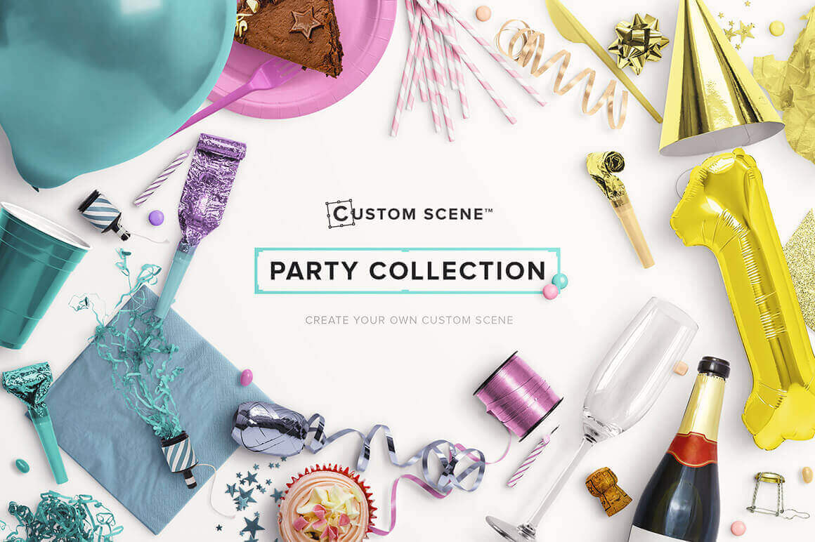 Create Awesome Party Scenes Using 160+ Isolated Objects – only $14!