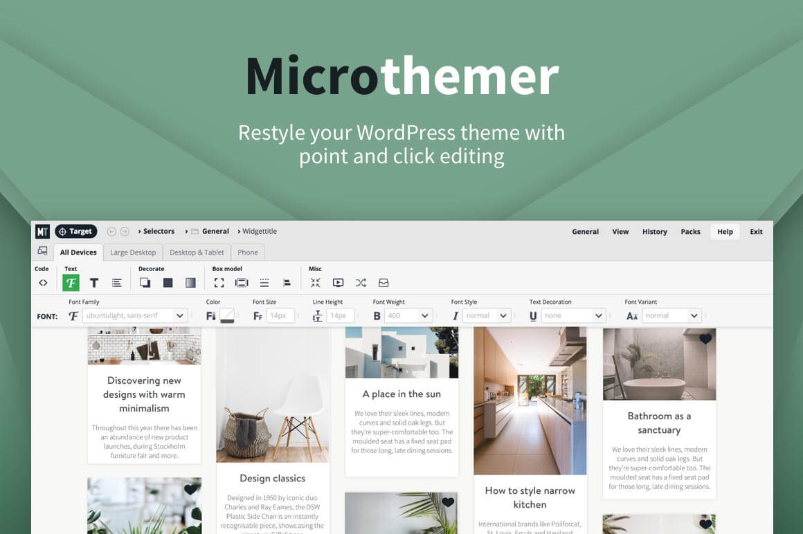 Microthemer – Visual CSS Editor for WordPress – only $17!