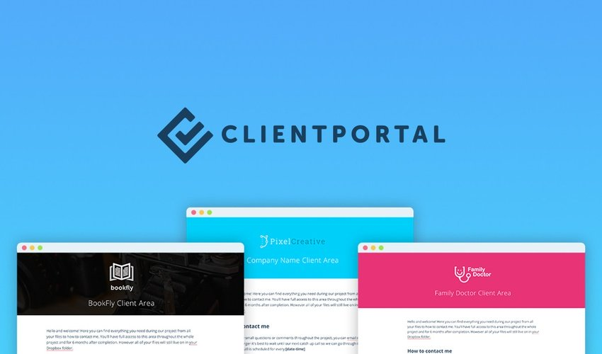 Lifetime Deal to Client Portal WP Plugin for $39