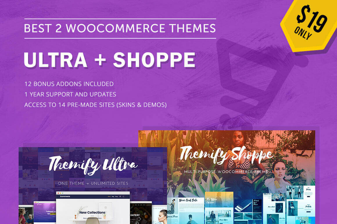 Pair of Popular WooCommerce Themes: Shoppe + Ultra - only $19!