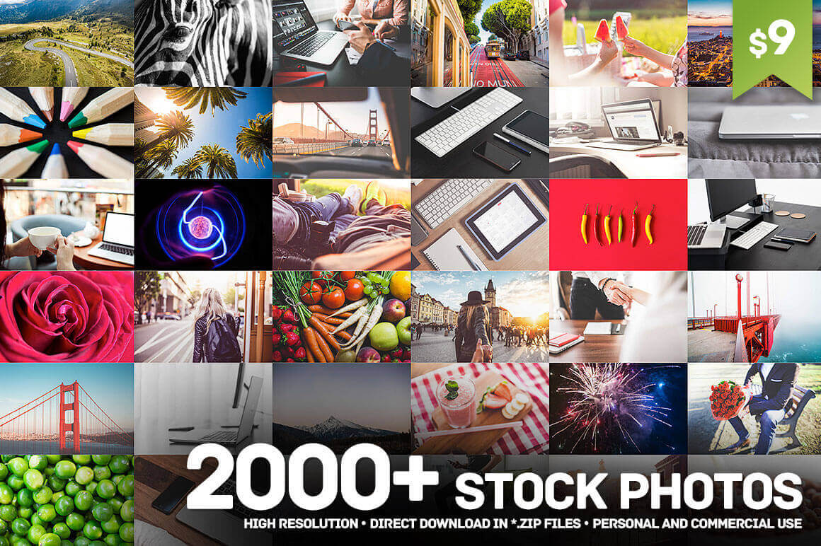 2000+ Hi-Res Stock Photos from picjumbo – only $9!