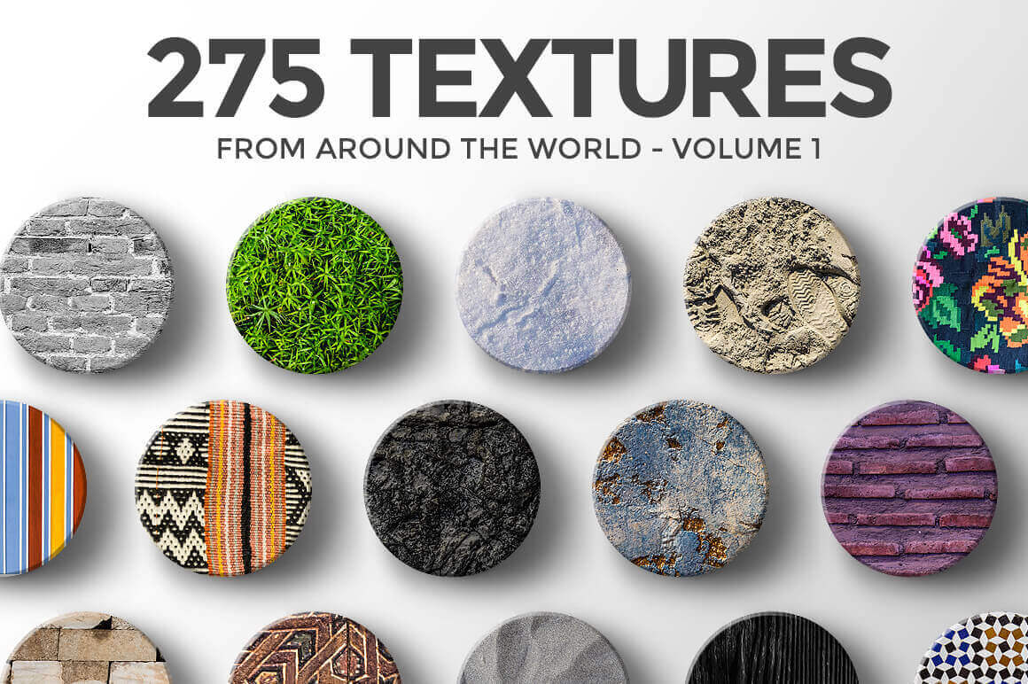 275 Hi-Res Textures from Around the World – only $9!