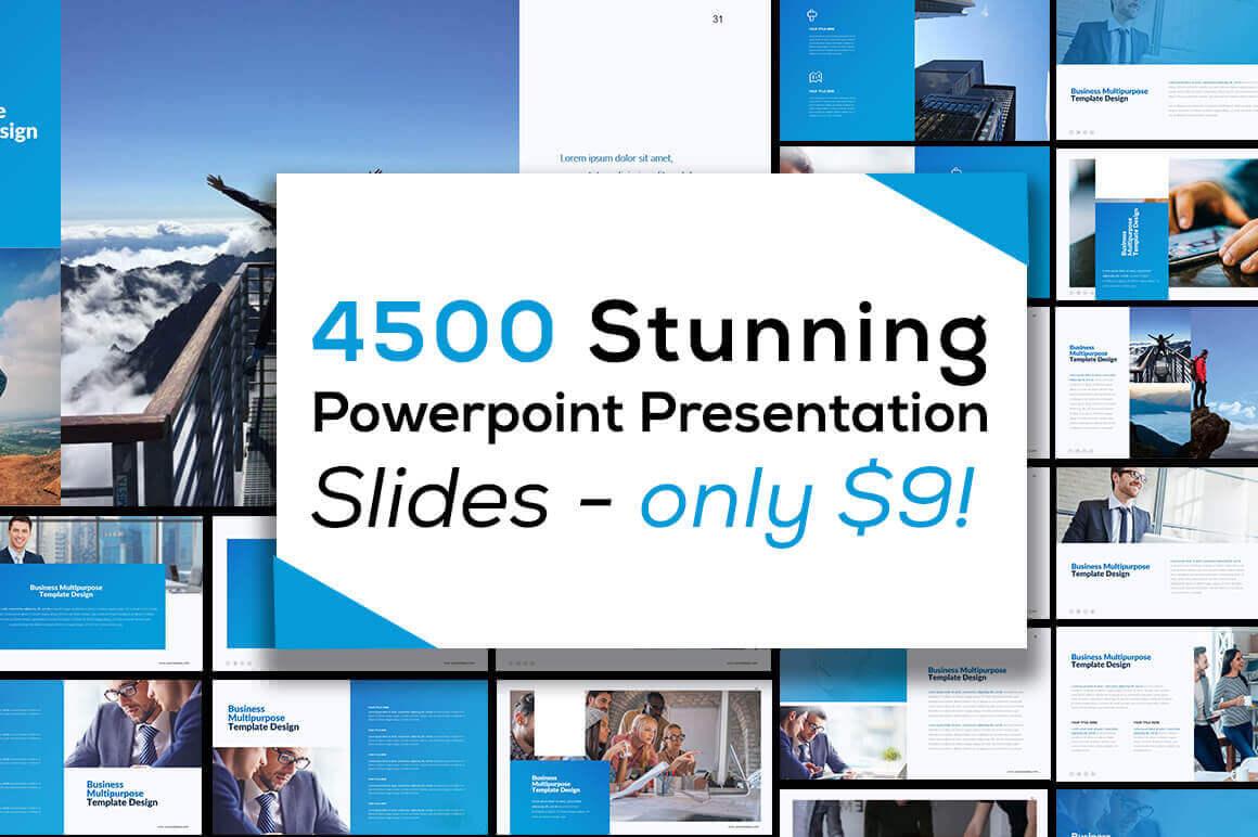 4500 Stunning Powerpoint Presentation Slides – only $9!
