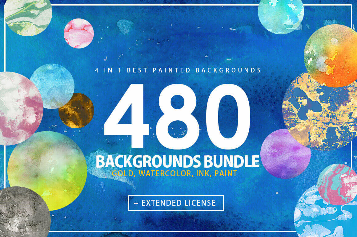 480 Super High-Resolution Painted Backgrounds – only $17!