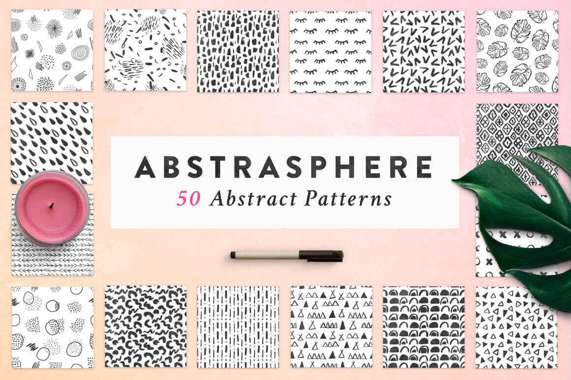 50 Trendy Seamless Abstract Patterns – only $9!