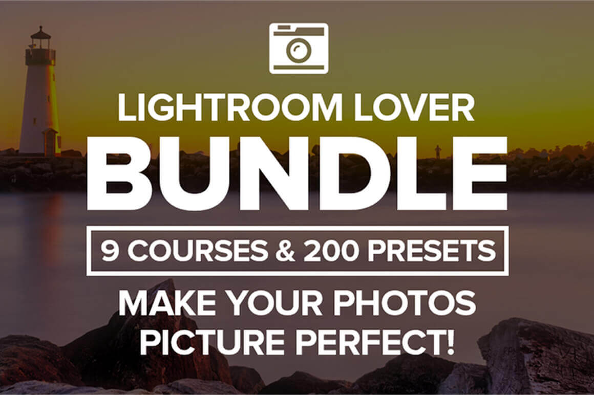 Lightroom Lover Bundle of 9 Courses and 200 Presets – only $15!