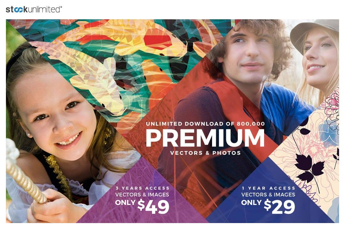 Over 1 Million Premium Stock Photos, Vectors, Icons & More from StockUnlimited – just $29!