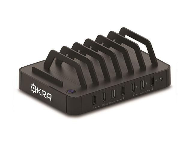 Okra 7-Port USB Desktop Universal Charging Station for $39