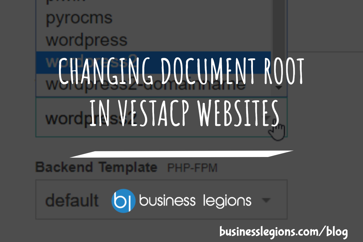 CHANGING DOCUMENT ROOT IN VESTACP WEBSITES