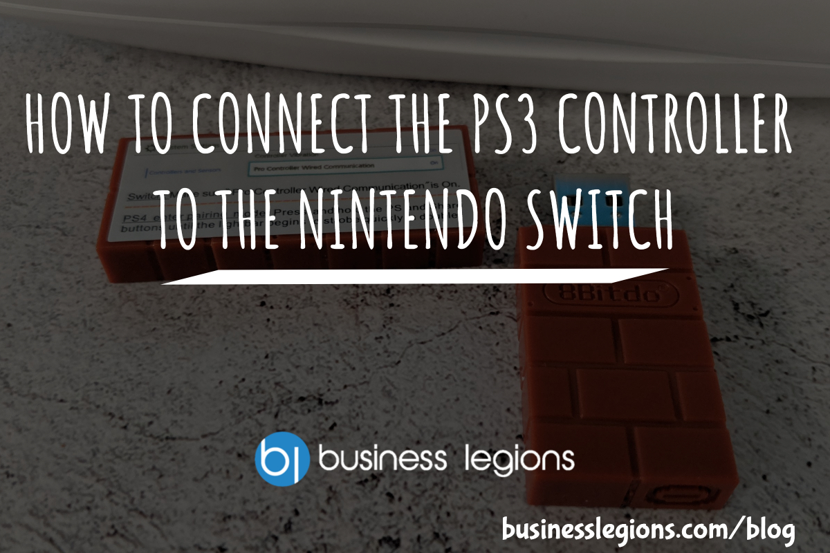 HOW TO CONNECT THE PS3 CONTROLLER TO THE NINTENDO SWITCH