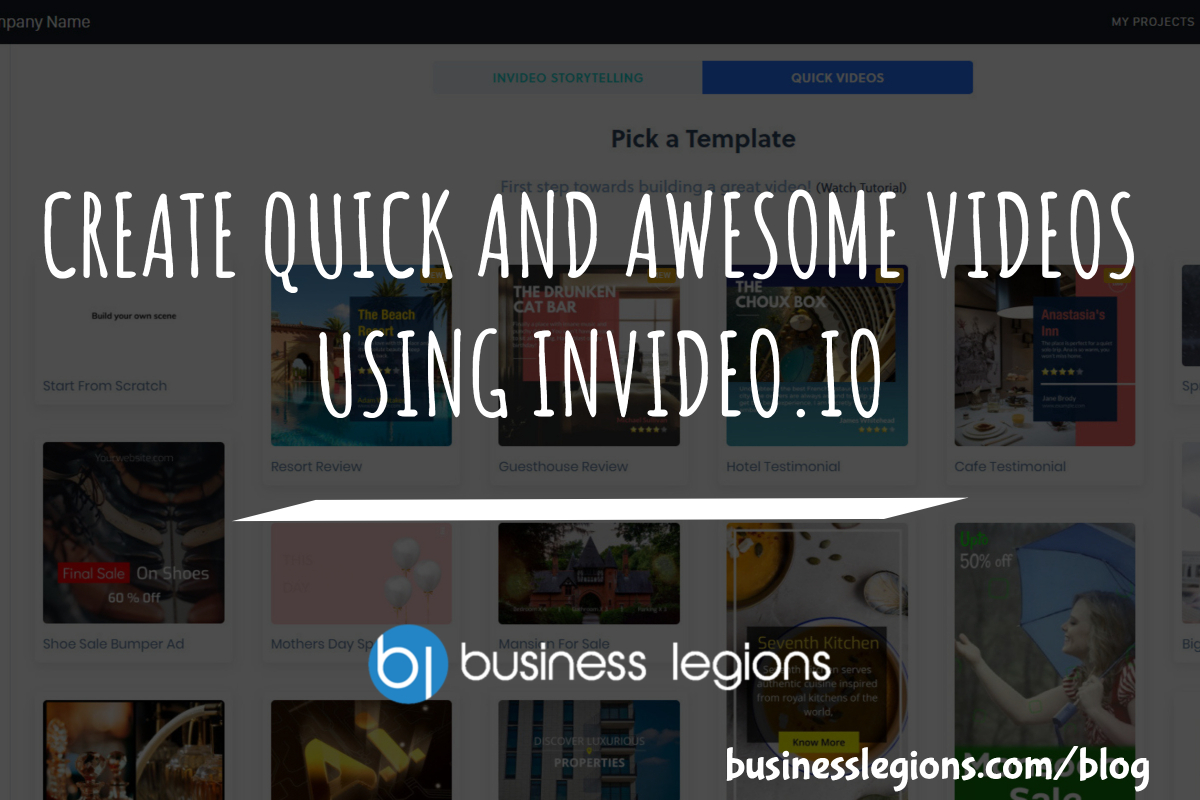 CREATE QUICK AND AWESOME VIDEOS USING INVIDEO.IO