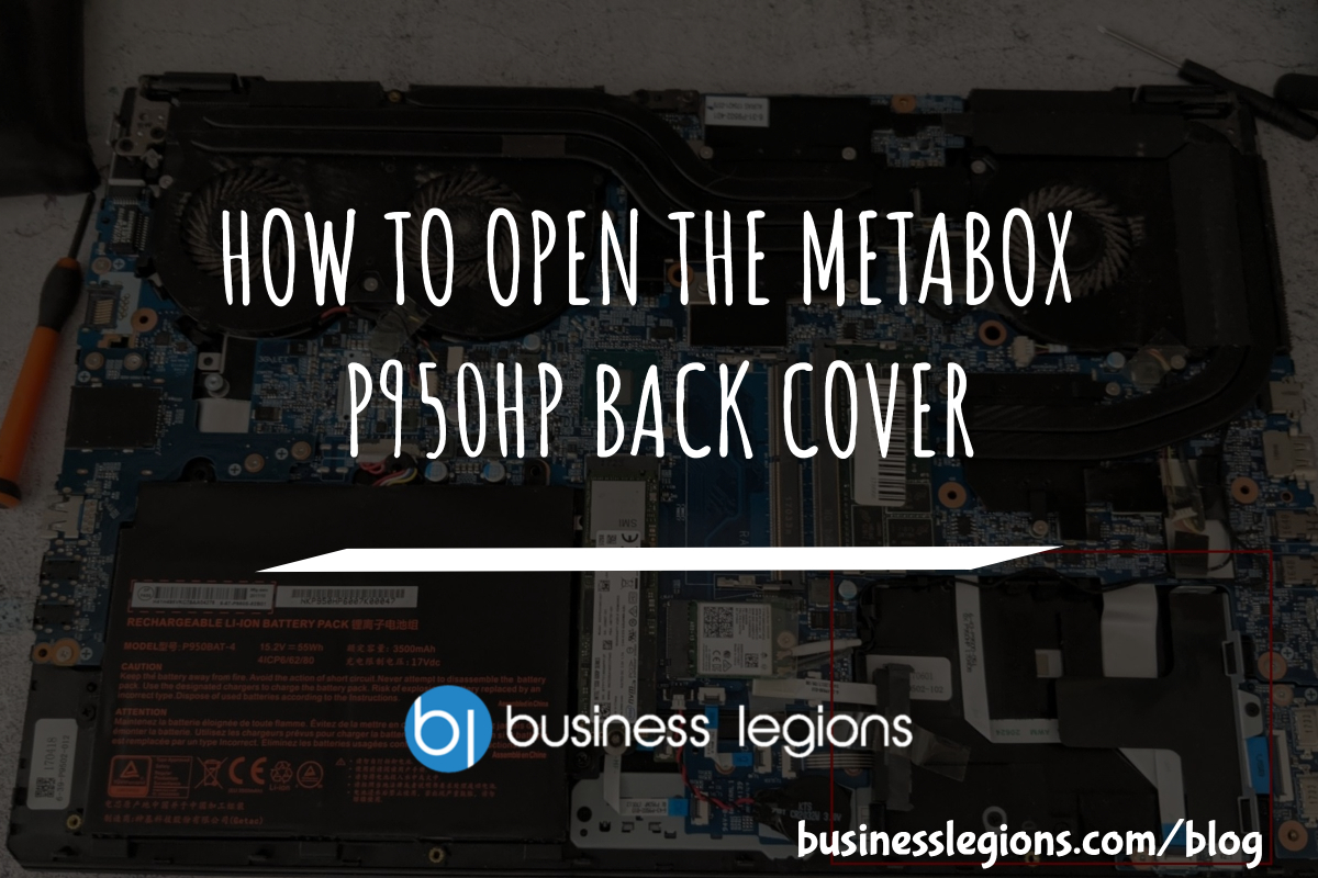 HOW TO OPEN THE METABOX P950HP BACK COVER
