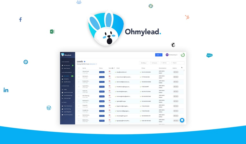 Lifetime Deal to Ohmylead for $49