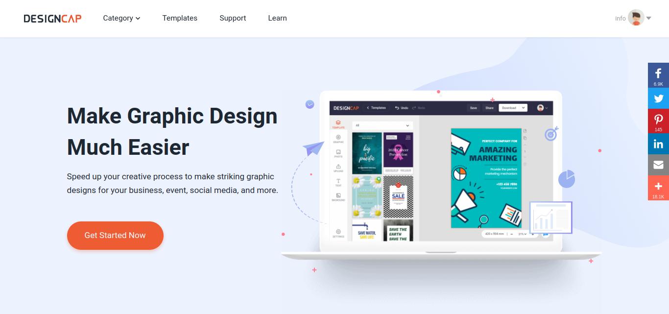 DESIGNCAP – AN AWESOME GRAPHIC DESIGN SOFTWARE TOOL