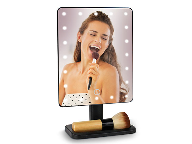 U-REFLECT Vanity Mirror with Built-In Speaker for $29