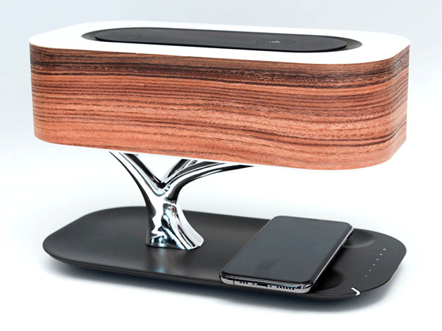Tree of Light: Wireless Charger + Bluetooth Speaker + LED Lamp for $129